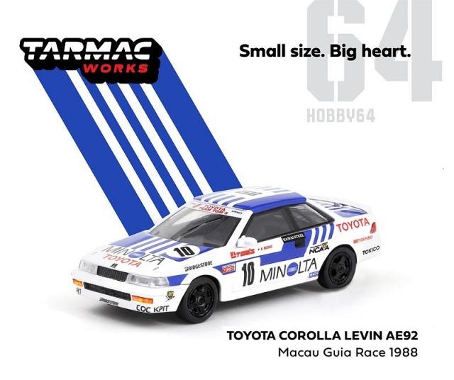 TARMAC 1/64 Toyota Corolla Levin AE92 Macau Guia Race 1988 K.Mizaki