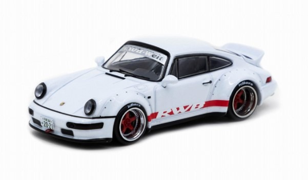 TARMAC 1/64 RWB 964 White/Red stripe Ducktail
