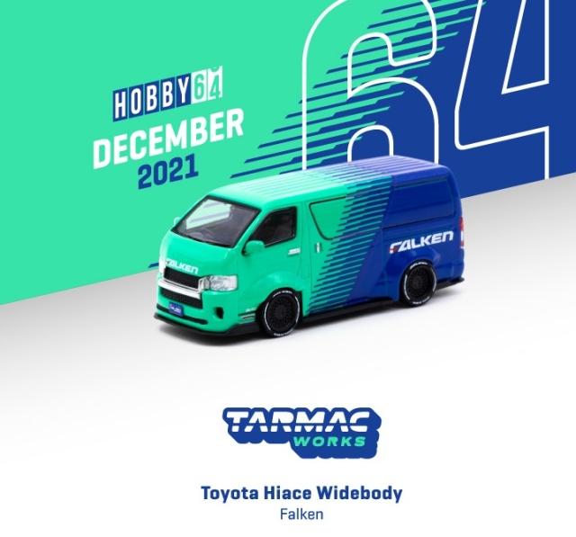 <予約 2022/2月発売予定> TARMAC 1/64 Toyota Hiace Widebody Falken