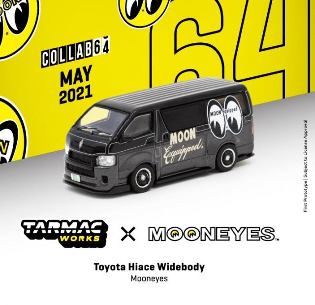 TARMAC 1/64 Toyota Hiace Widebody Mooneyes