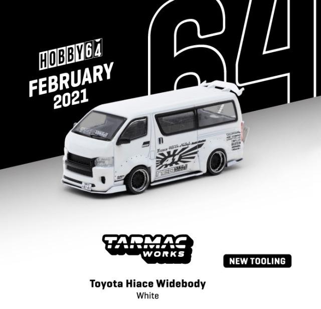 TARMAC 1/64 トヨタ ハイエース ワイドボディ ホワイト