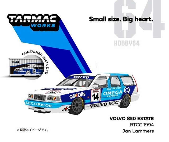 TARMAC 1/64 Volvo 850 Estate BTCC 1994 No,14
