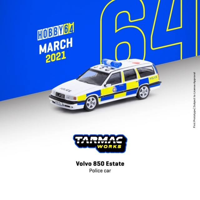TARMAC 1/64 Volvo 850 Estate Police car