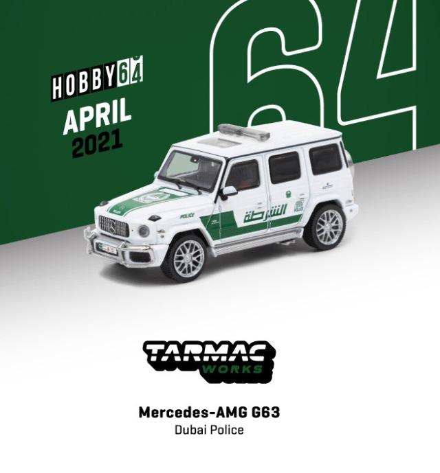 TARMAC 1/64 Mercedes-AMG G63 Dubai police