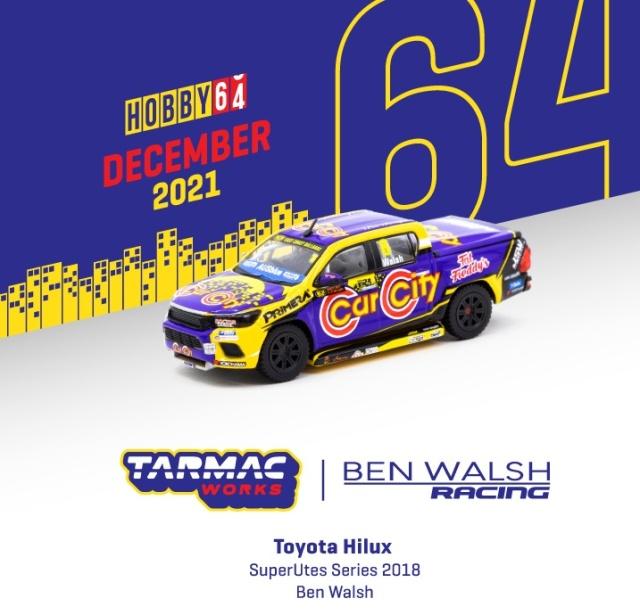 <予約 2022/2月発売予定> TARMAC 1/64 Toyota Hilux SuperUtes Series 2018 Ben Walsh