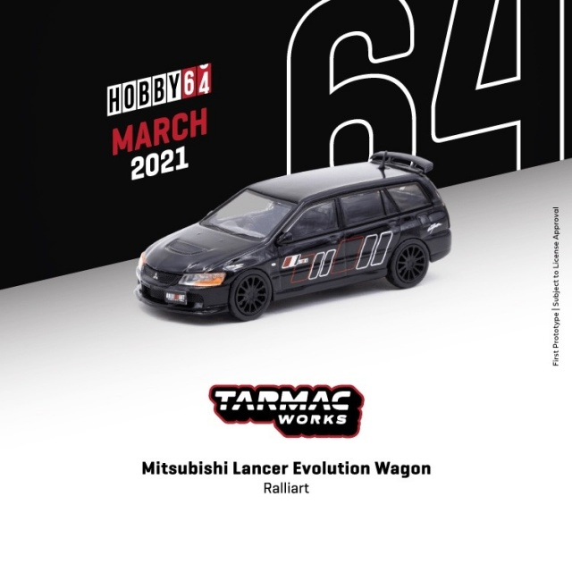 TARMAC 1/64 三菱 ランサー エボリューション Wagon Ralliart