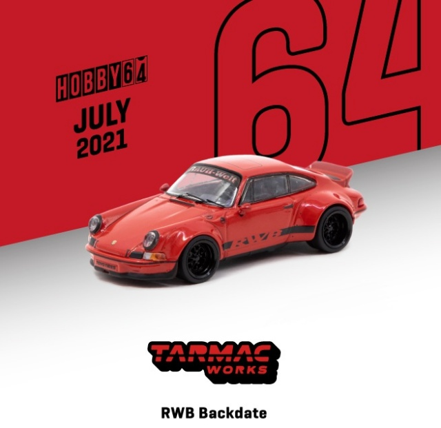 <予約 2021/9月発売予定> TARMAC 1/64 RWB Backdate Red