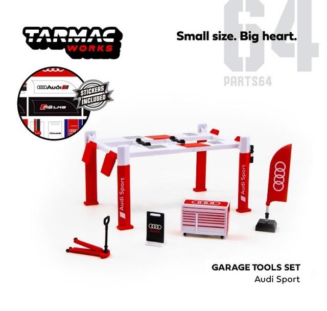 TARMAC 1/64 ガレージ ツールセット アウディ スポーツ