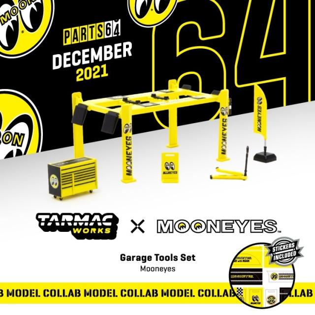 <予約 2022/2月発売予定> TARMAC 1/64 Garage Tools Set Mooneyes