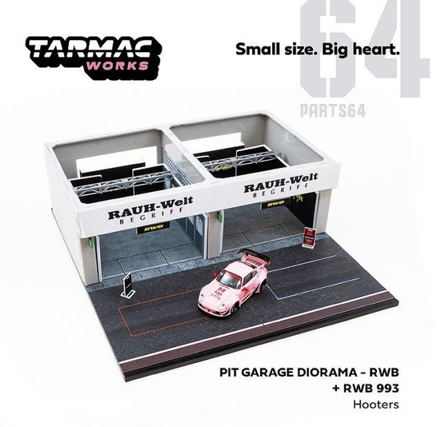 TARMAC 1/64 レーシング ピットガレージ RWB