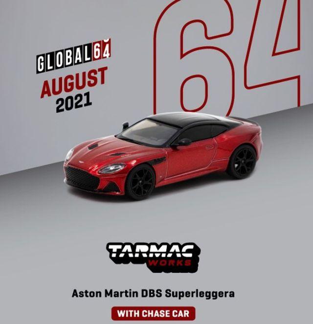 TARMAC 1/64 Aston Martin DBS Superleggera Red Metallic