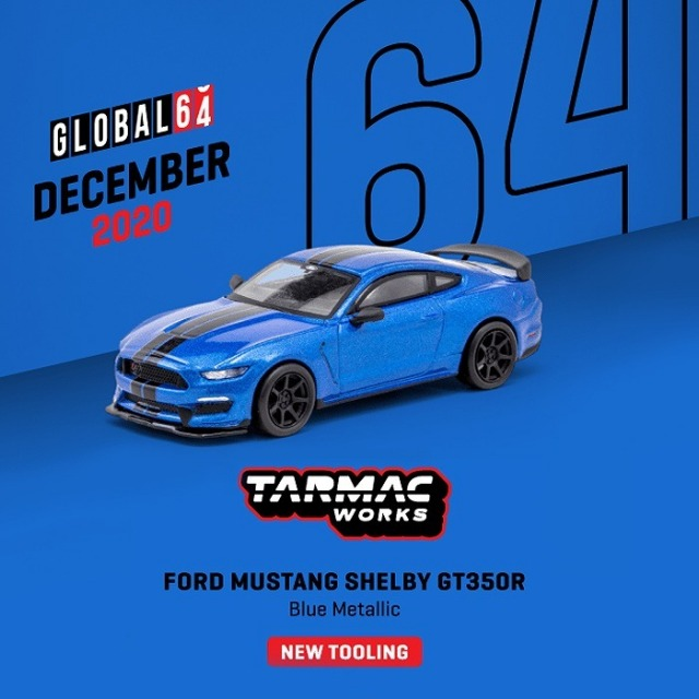 TARMAC 1/64 Ford Mustang Shelby GT350R Blue Metallic