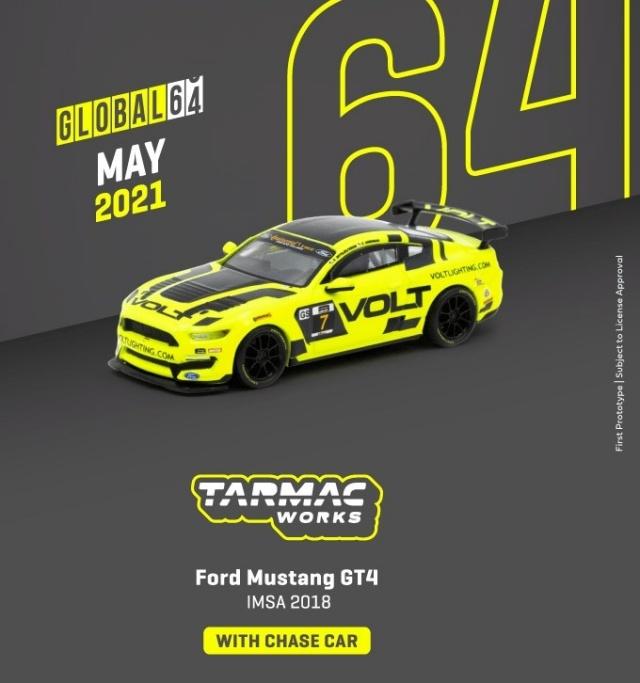 TARMAC 1/64 Ford Mustang GT4 IMSA 2018