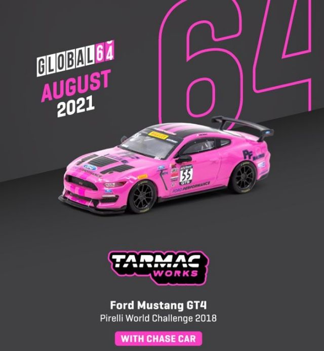 TARMAC 1/64 Ford Mustang GT4 Pirelli World Challenge 2018