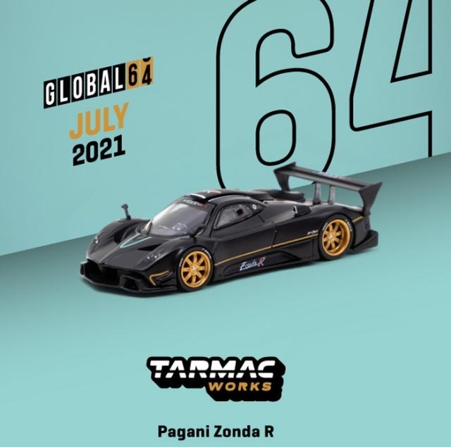 <予約 2021/9月発売予定> TARMAC 1/64 Pagani Zonda R Matt Black