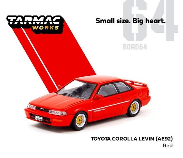 TARMAC 1/64 Toyota Corolla Levin (AE92) Red