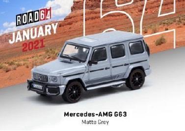 TARMAC 1/64 Mercedes-AMG G63 Matte grey