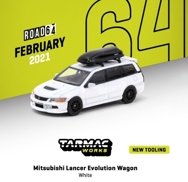 TARMAC 1/64 Mitsubishi Lancer Evolution Wagon White