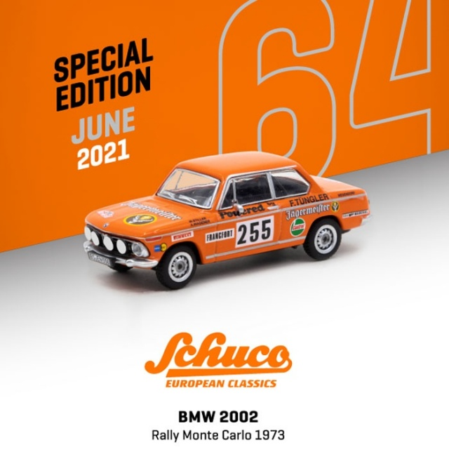 TARMAC 1/64 BMW 2002 Rally Monte Carlo 1973