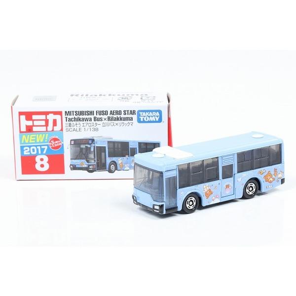 【トミカ】 No,8 三菱 ふそう エアロスター 立川バス × リラックマ