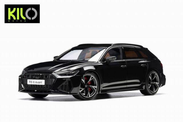<予約 2021/12月発売予定> KILO WORKS 1/18 2021 Audi RS6 C8 Avant Black