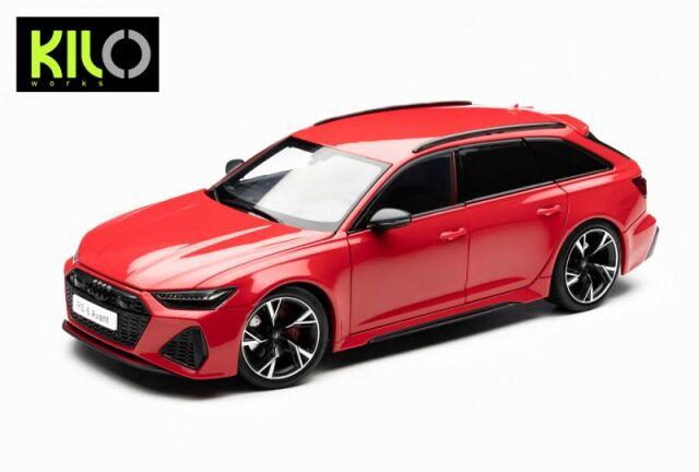 <予約 2021/12月発売予定> KILO WORKS 1/18 2021 Audi RS6 C8 Avant Red