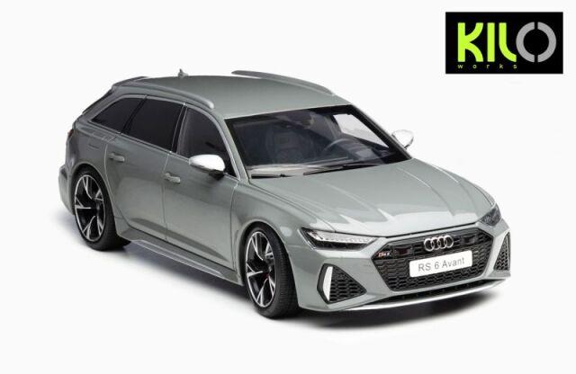 <予約 2021/12月発売予定> KILO WORKS 1/18 2021 Audi RS6 C8 Avant Gray