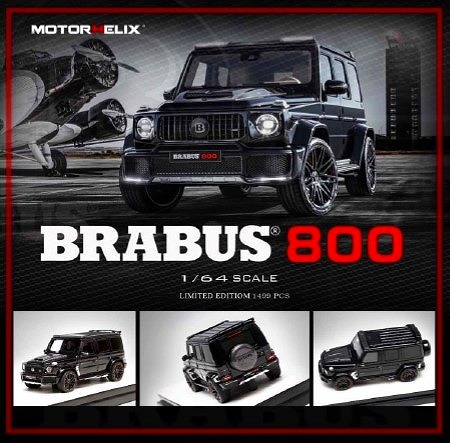 MOTORHELIX 1/64 Brabus 800  Metallic Black