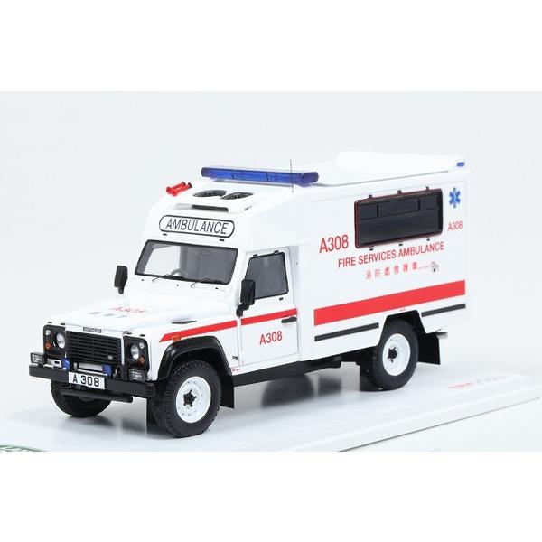【TSM】 1/43 ランドローバー ディフェンダー 香港消防救護車