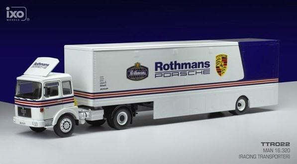 <予約 2021/3月発売予定> ixo 1/43 MAN 16.320 レーシングトランスポーター Rothmans Porsche