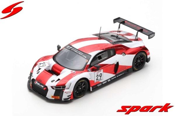 Spark 1/43 Audi R8 LMS No.29 Audi Sport Team Land Winner California 8H 2018 C. Mies - C. Haase - K. van der Linde