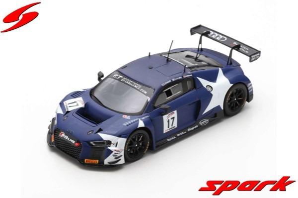 Spark 1/43 Audi R8 LMS No.17 Audi Sport Team WRT 5th California 8H 2018 S. van der Linde - A. Riberas - S. Leonard