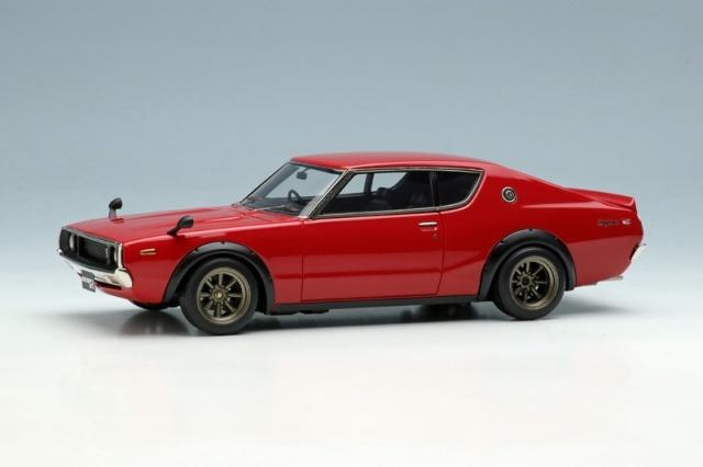 <予約 2022/1月発売予定> VISION 1/43 日産スカイライン2000 GT-R (KPGC110) 1973 (RSワタナベ8スポークホイール) レッド