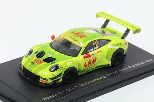 [Spark] 1/64 Porsche 911 GT3 R No.911 Manthey-Racing FIA GT World Cup Macau 2018 Laurens Vanthoor