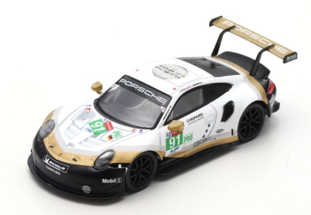 spark 1/64 Porsche 911 RSR No.91 Porsche GT Team  2nd LMGTE Pro class 24H Le Mans 2019   R. Lietz - G. Bruni - F. Makowiecki