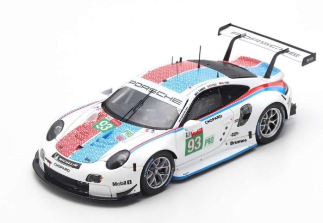 spark 1/64 Porsche 911 RSR No.93 Porsche GT Team  3rd LMGTE Pro class 24H Le Mans 2019   P. Pilet - E. Bamber - N. Tandy