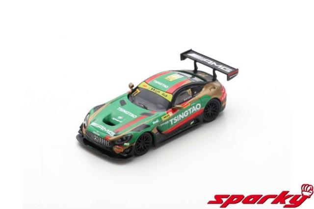 Spark 1/43 Mercedes-AMG GT3 No.77 Craft-Bamboo Racing 6th FIA GT World Cup Macau 2019 E.Mortara