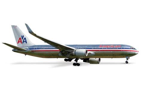 B767-300ER  アメリカン航空 (ウィングレット付き) 1:500 HERPA [517980]