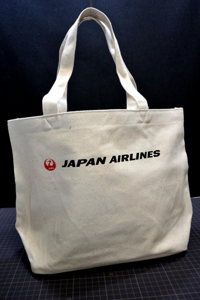 JAL【鶴】トートバッグ ホワイト [BJD6003]