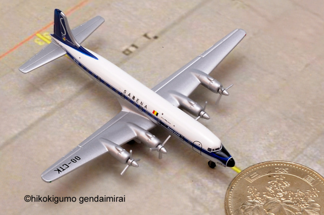 DC-6 サベナ・ベルギー航空 1:500 HERPA [515481]