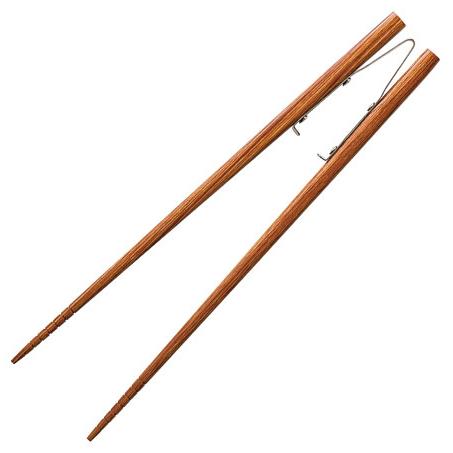 楽々箸 ピンセットタイプ すべり止め 長さ:[大]22.5cm [介護用食器] フォーライフメディカル