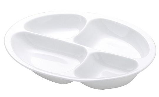 仕切皿 4分割 (カラー:ホワイト) [生活支援・介護予防用品] フォーライフメディカル