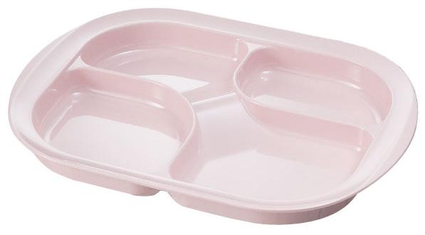 メラミン仕切り皿 (カラー:ピンク) [生活支援・介護予防用品] フォーライフメディカル