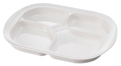 メラミン仕切り皿 (カラー:ホワイト) [生活支援・介護予防用品] フォーライフメディカル