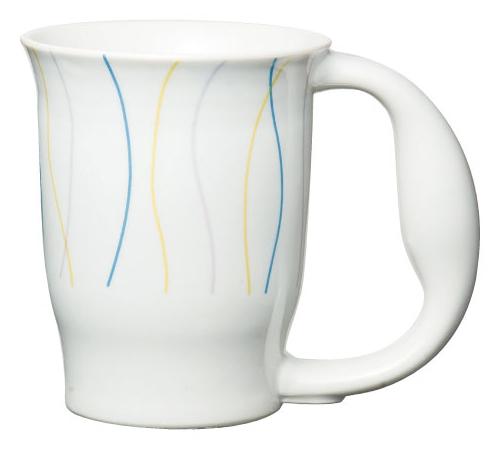 ほのぼのマグカップ 絵柄:カーブ [生活支援・介護予防用品] フォーライフメディカル