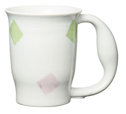 ほのぼのマグカップ 絵柄:スクエアー [生活支援・介護予防用品] フォーライフメディカル