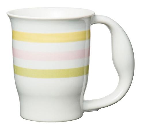 ほのぼのマグカップ 絵柄:ストライプ [生活支援・介護予防用品] フォーライフメディカル