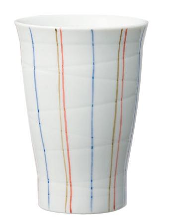 ほのぼの湯のみ(有田焼・手描き仕上げ) Lサイズ 絵柄:とくさ [生活支援・介護予防用品] フォーライフメディカル