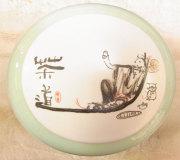中国青瓷茶罐(収納罐) 漆