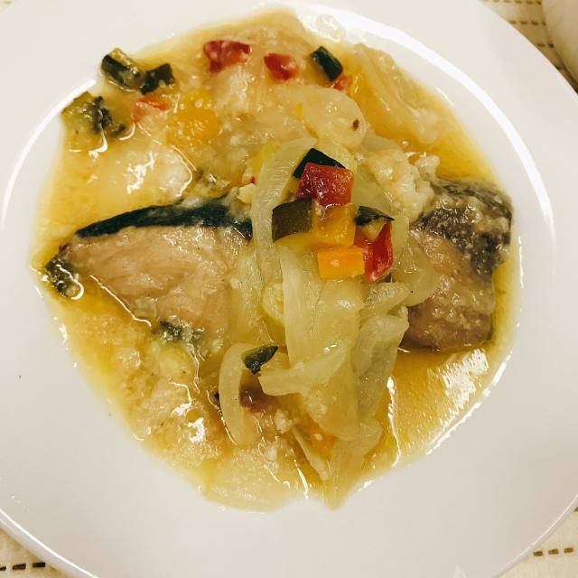 ぶり香味野菜煮 オリーブ塩麹